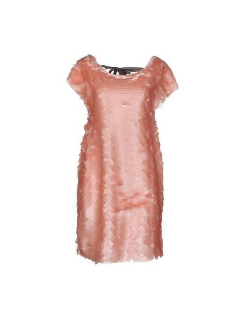 Liviana Conti | Женское Розовое Короткое Платье