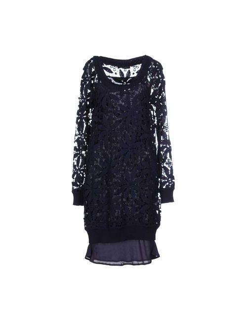 Twin-Set Simona Barbieri | Женское Синее Короткое Платье