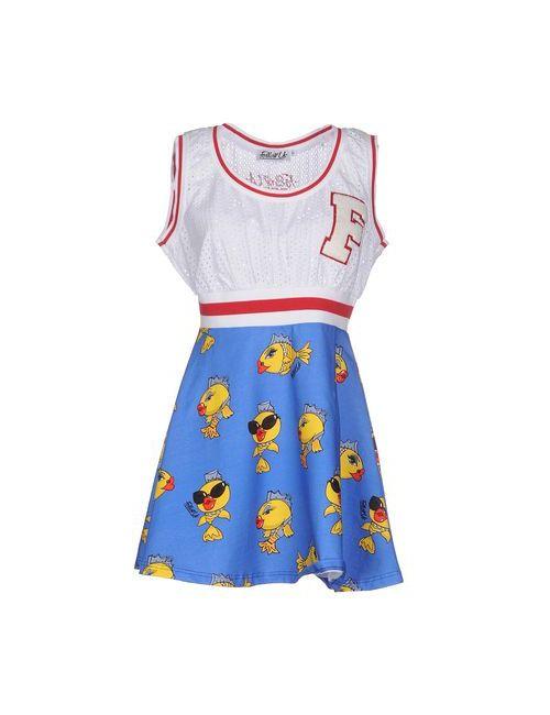 FOLLOW US | Женское Синее Короткое Платье