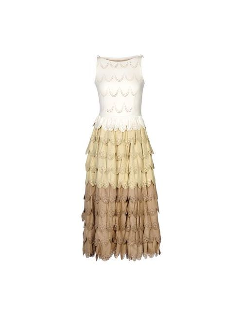 Dsquared2   Женское Слоновая Костящее Платье До Колена