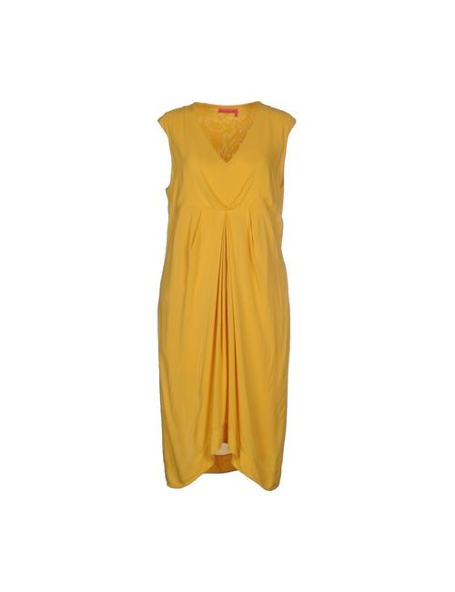 Manila Grace Denim | Женское Жёлтое Платье До Колена