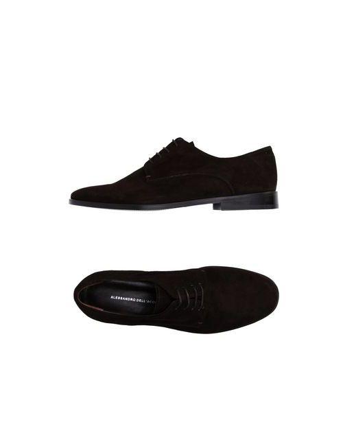 Alessandro Dell'Acqua   Мужская Коричневая Обувь На Шнурках