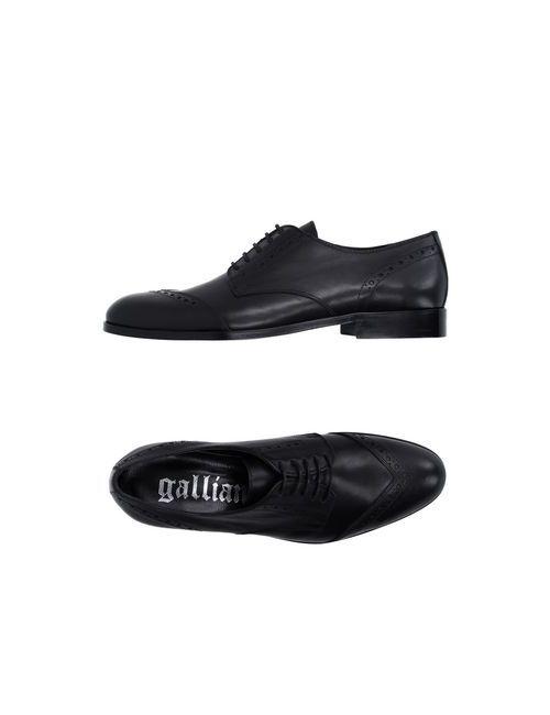 Galliano | Мужская Чёрная Обувь На Шнурках