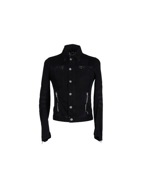 Pierre Balmain | Мужская Чёрная Джинсовая Верхняя Одежда