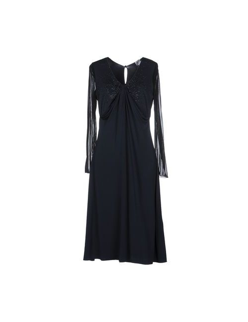 Armani Collezioni | Женское Синее Платье До Колена