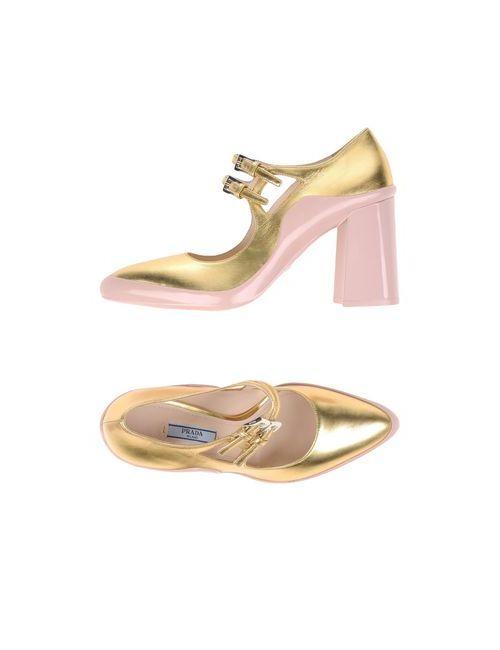 Prada   Женские Золотистые Туфли