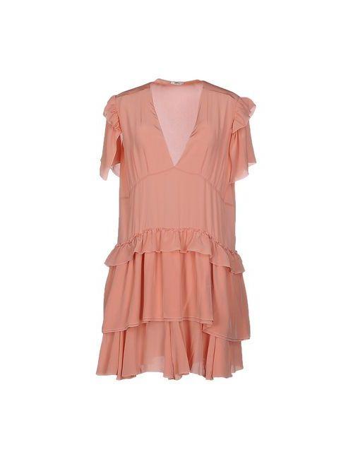 Miu Miu   Женское Розовое Короткое Платье