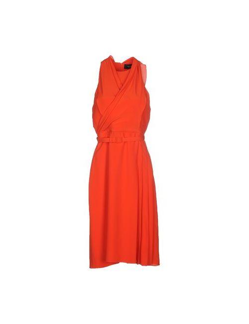 Gucci | Женское Оранжевое Платье До Колена