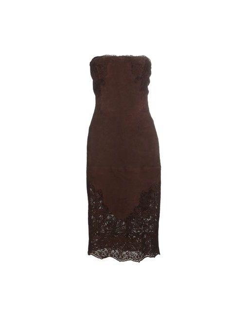 Ermanno Scervino | Женское Коричневое Платье До Колена