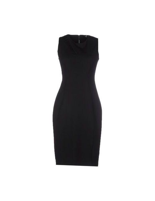 Elie Tahari | Женское Чёрное Платье До Колена