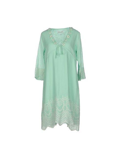 Positano | Женское Зелёное Платье До Колена