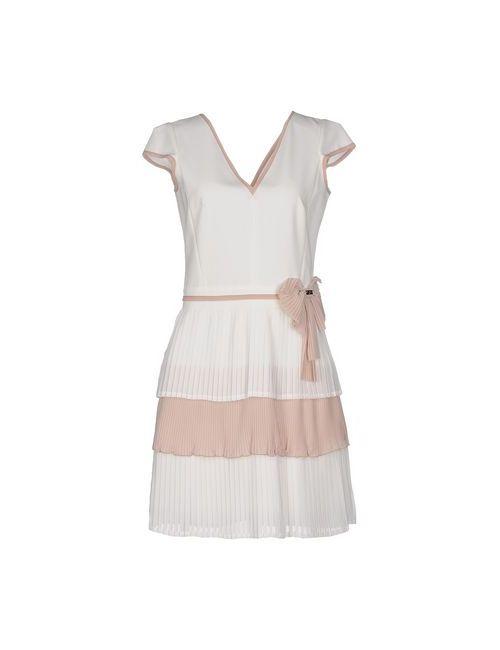 Eureka | Женское Белое Короткое Платье