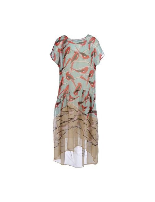 ERIKA CAVALLINI SEMICOUTURE | Женское Зелёное Платье До Колена