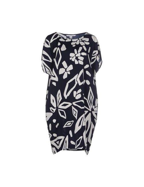 Diane Von Furstenberg | Женское Синее Короткое Платье