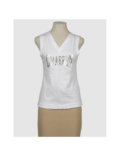 Cimarron | Женская Белая Футболка Без Рукавов