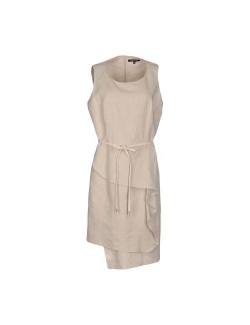 Walter Voulaz | Женское Бежевое Короткое Платье