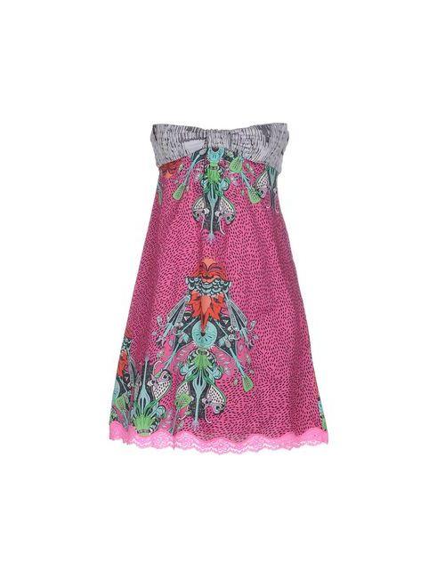 Custo Barcelona | Женское Фиолетовое Короткое Платье