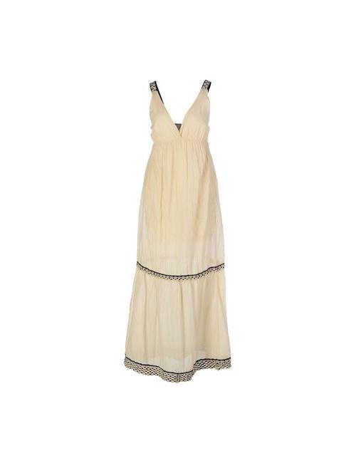 Ottod'Ame | Женское Бежевое Длинное Платье