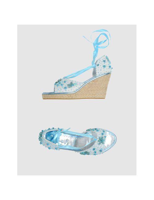 Lafty Lie | Женская Бирюзовая Обувь На Танкетке