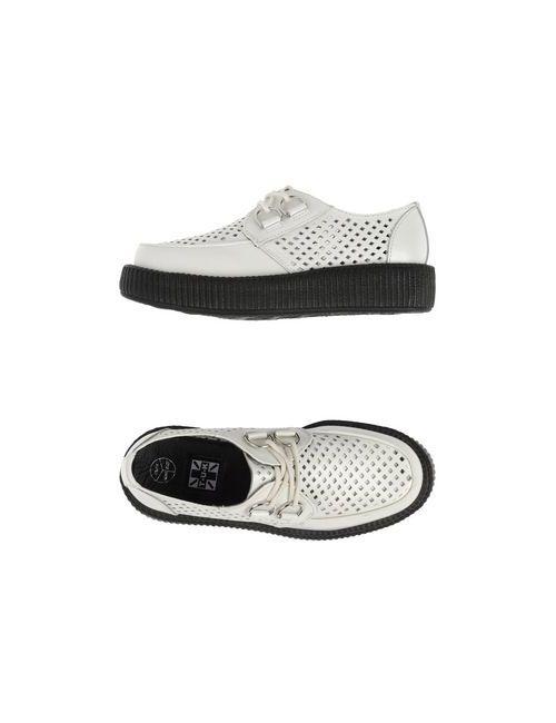 T.U.K | Женская Белая Обувь На Шнурках