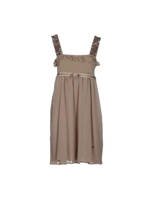 Twin-Set Simona Barbieri | Женское Хаки Короткое Платье
