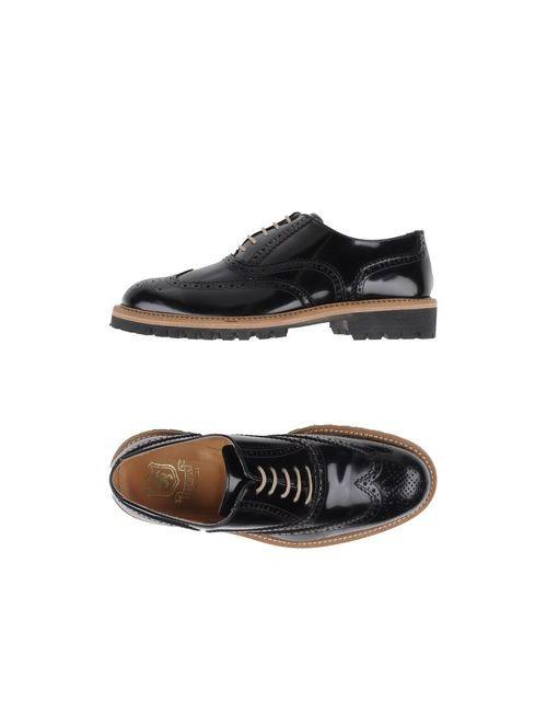 Saxone | Мужская Чёрная Обувь На Шнурках