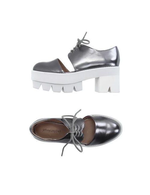 Jeffrey Campbell | Женская Серебристая Обувь На Шнурках