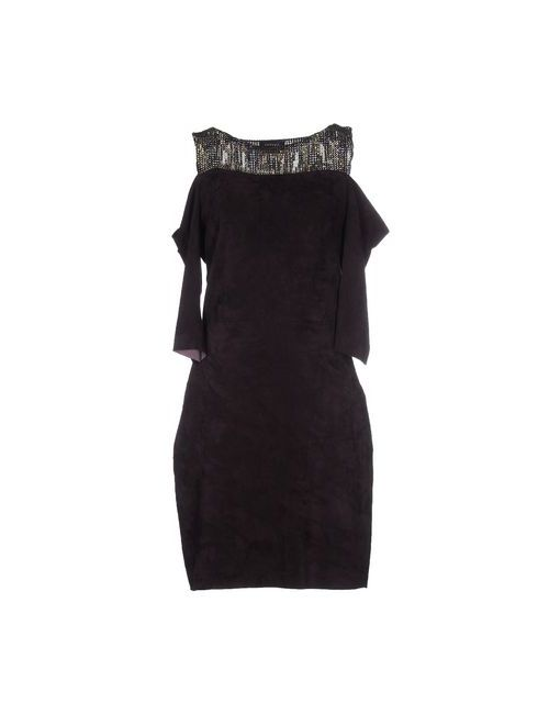 Jitrois | Женское Баклажанное Короткое Платье
