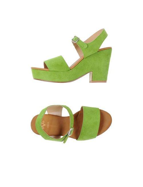 Versace 19•69 | Мужские Зелёные Сандалии
