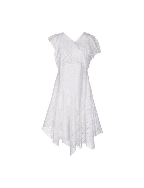 Isabel Marant | Женское Белое Платье До Колена