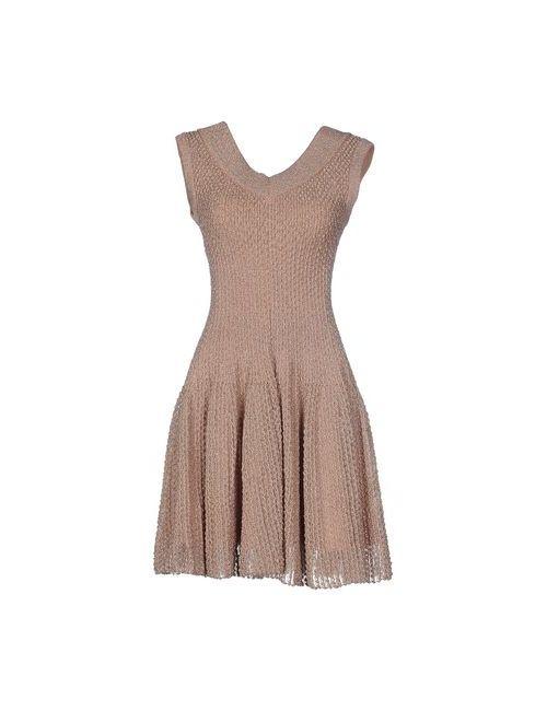 Alaïa | Женское Коричневое Короткое Платье