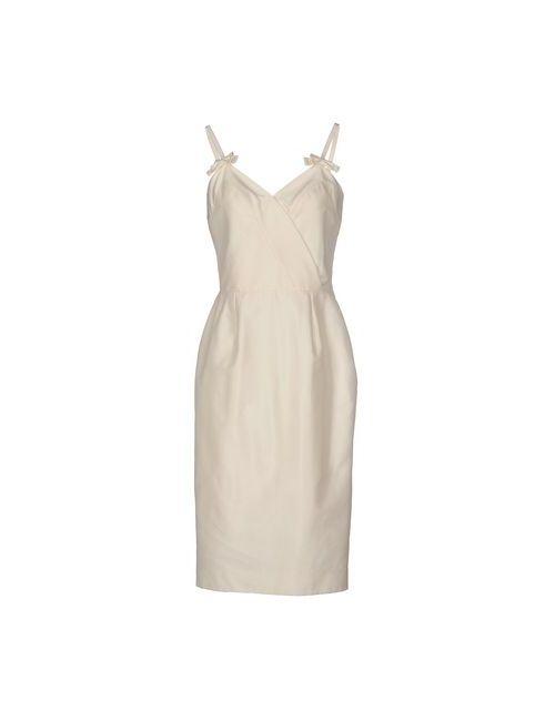 Dior   Женское Слоновая Костящее Платье До Колена