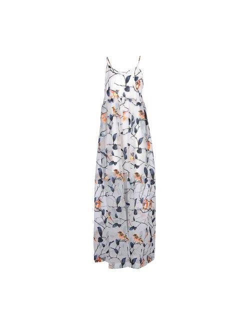 MSGM | Женское Серое Длинное Платье