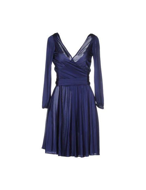 Halston Heritage   Женское Синее Короткое Платье
