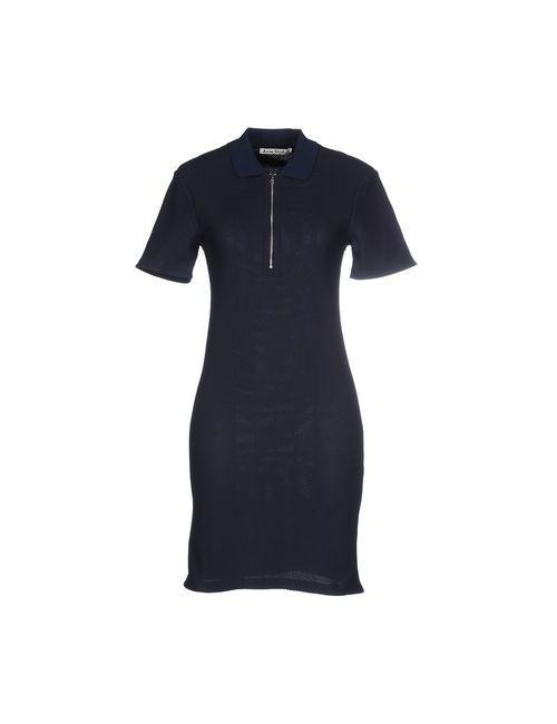 Acne | Женское Синее Короткое Платье