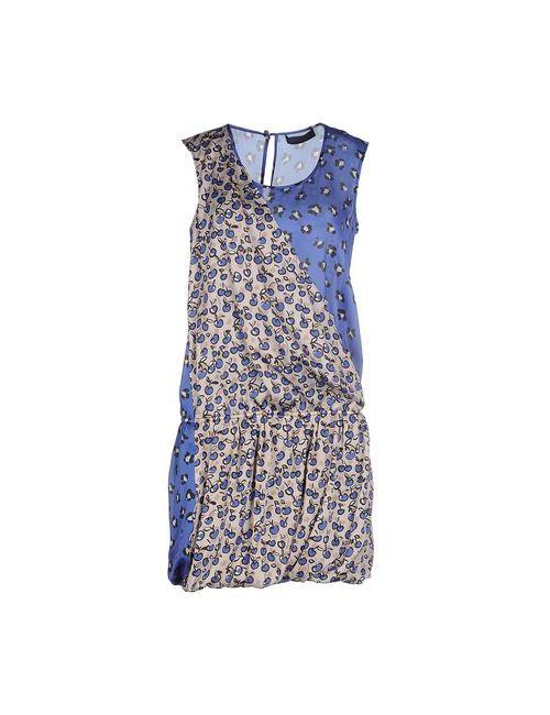 Tru Trussardi | Женское Синее Короткое Платье