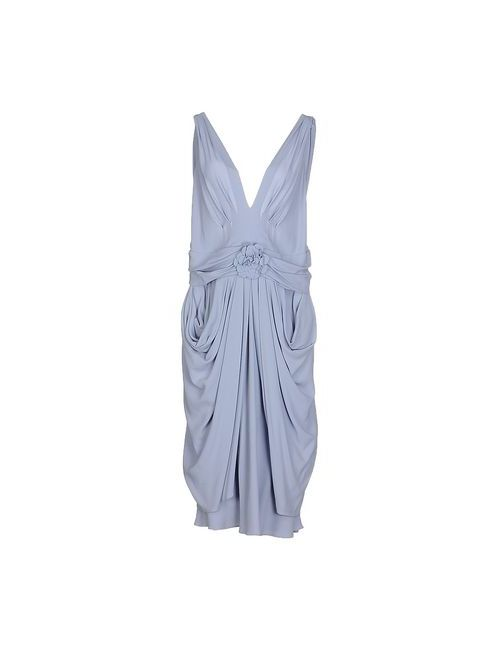 Moschino | Женское Фиолетовое Платье До Колена
