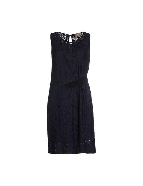 No21 | Женское Синее Платье До Колена