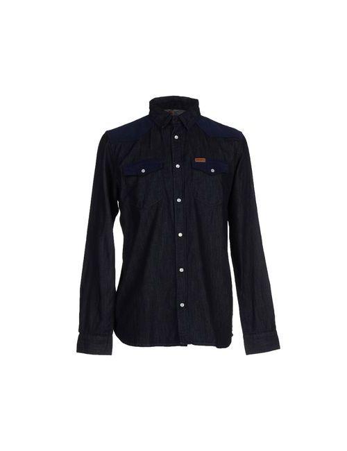 Carhartt   Мужская Синяя Джинсовая Рубашка