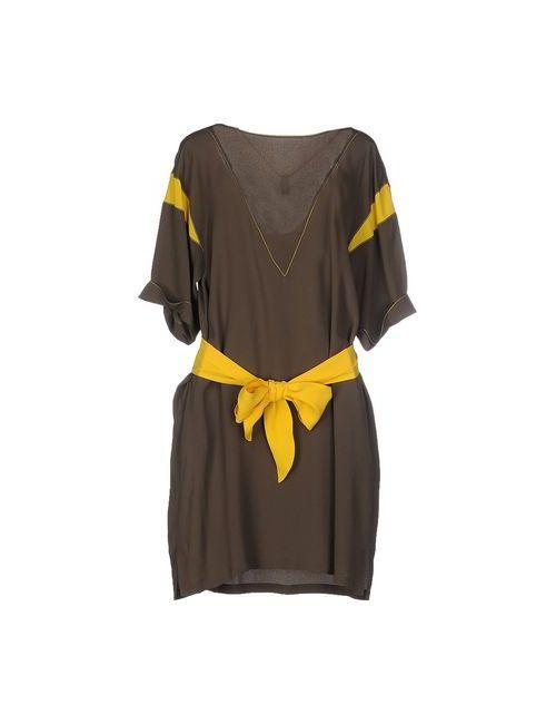 Space Style Concept | Женское Жёлтое Короткое Платье