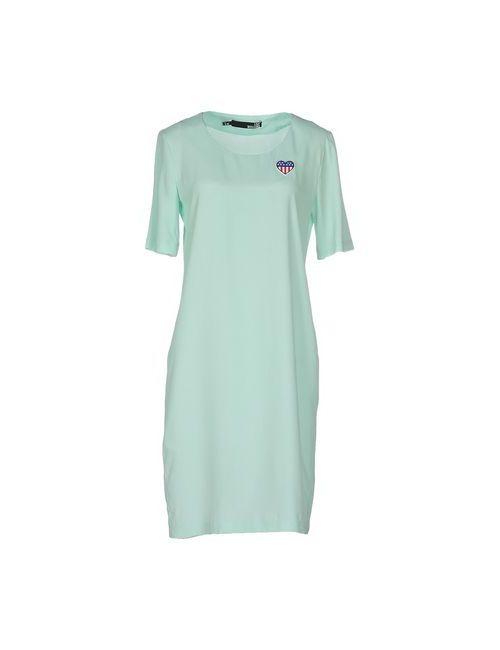 Love Moschino | Женское Зелёное Короткое Платье