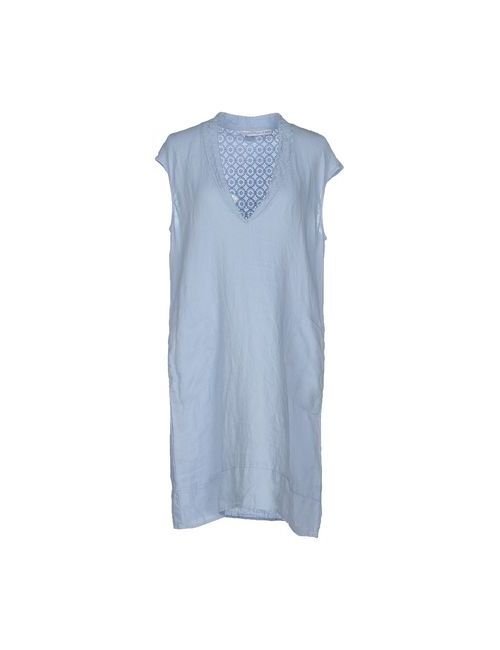 La Fabbrica Del Lino | Женское Голубое Короткое Платье