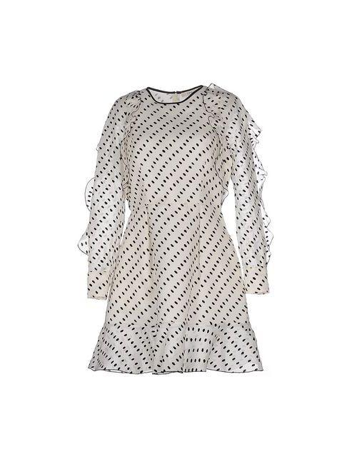 Erdem | Женское Слоновая Костящее Короткое Платье