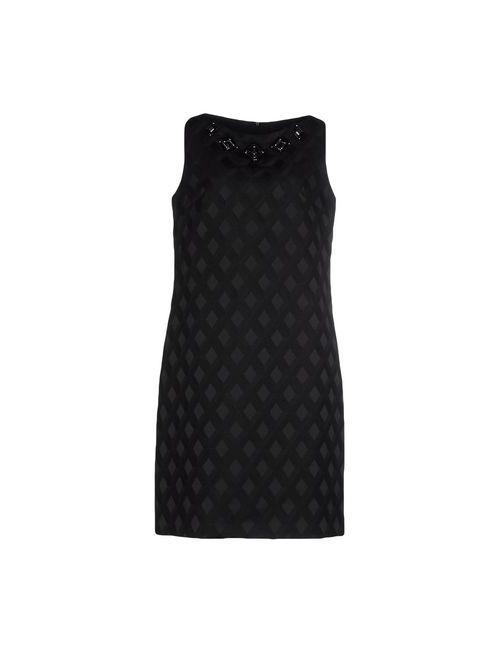 Clips | Женское Чёрное Платье До Колена