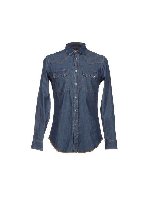 LUK'S | Мужская Синяя Джинсовая Рубашка