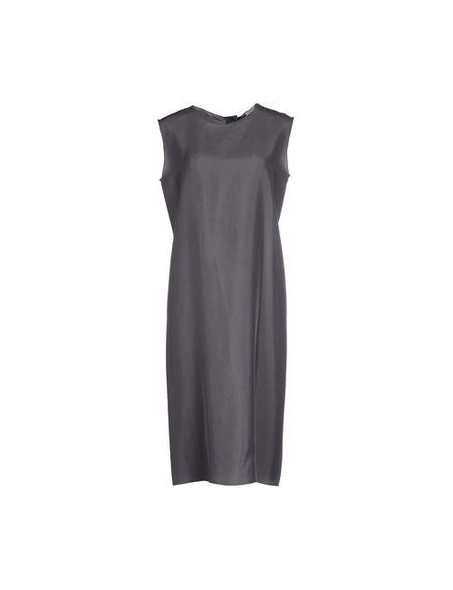 Hache | Женское Серое Платье До Колена