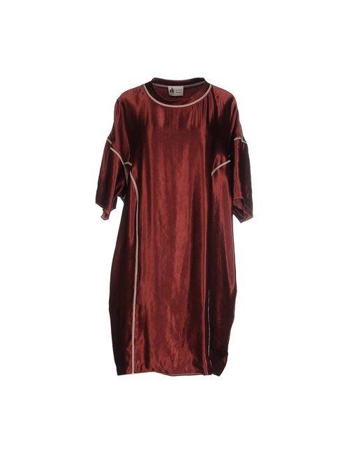 Lanvin | Женское Коричневое Короткое Платье