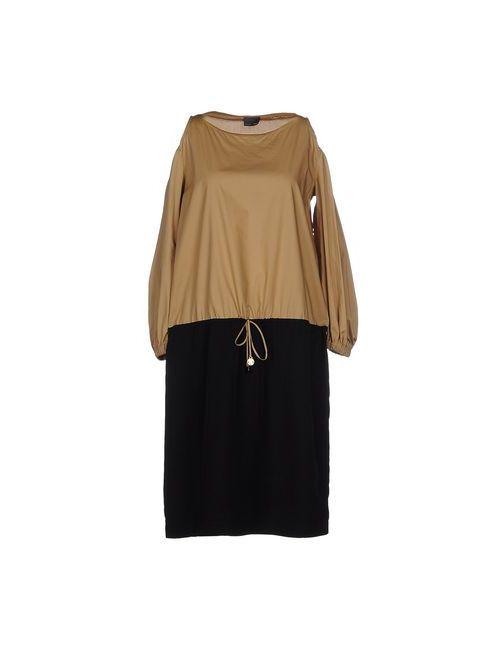 Fendi | Женское Хаки Платье До Колена