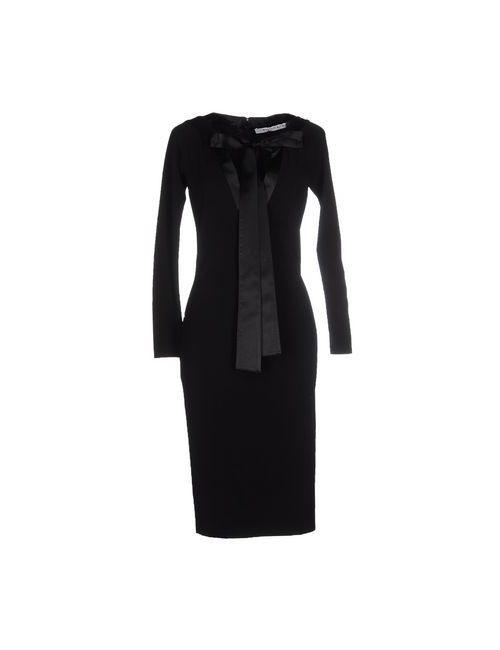 Givenchy | Женское Чёрное Платье До Колена