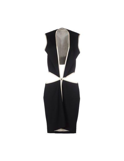 Bouchra Jarrar | Женское Чёрное Короткое Платье